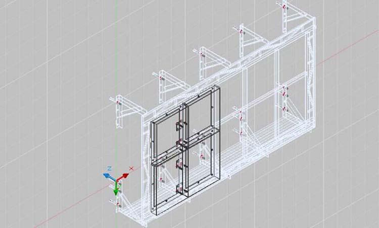 室外p6单元板 安装结构图