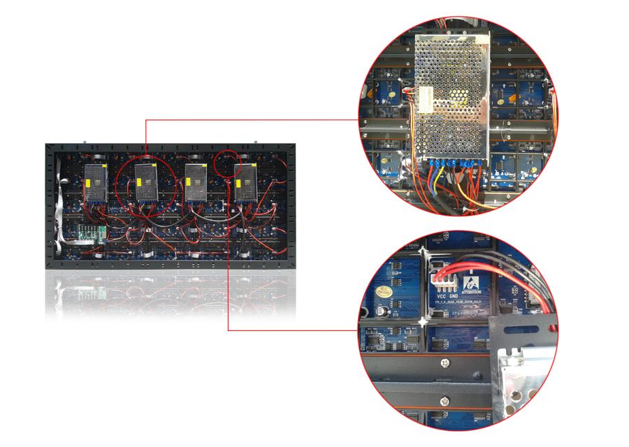 室外p8单元板电源安装图