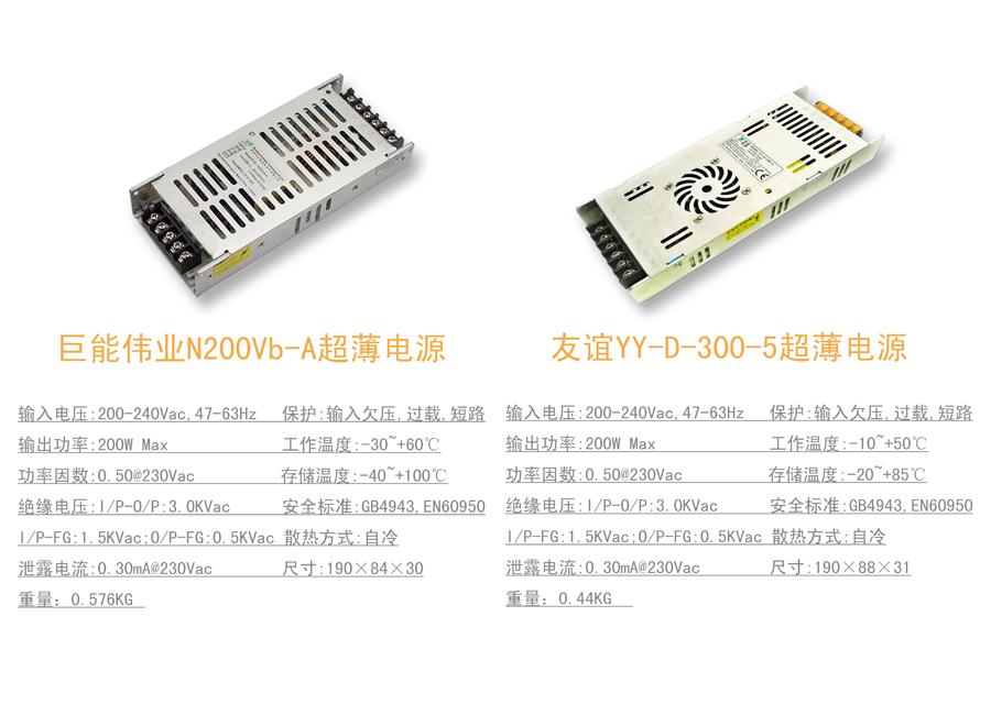 室外p5 单元板配套超薄电源